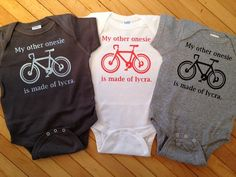 Funny My Other Onesie is Made of Lycra Baby Onesie-Pick Your Size, Onesie Color. Vinyl Color.