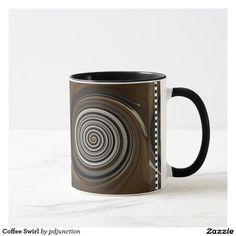 Coffee Swirl Mug http://www.zazzle.com/coffee_swirl_mug-168713699019197207