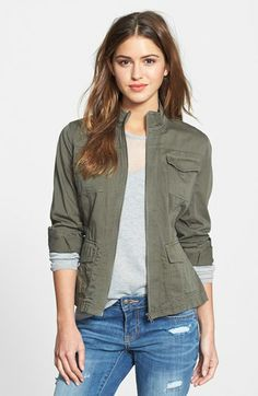 Caslon® Utility Jacket (Regular & Petite) available at #Nordstrom