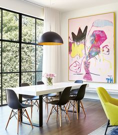 Cheerful colors and patterns set a joyful backdrop for family life in this modern makeover.