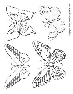 Six printable butterfly shapes to use as stencils or patterns. You can also decorate them into fun butterfly crafts. Butterfly Outline, Butterfly Stencil, Butterfly Painting, Butterfly Crafts, Butterfly Shape, Butterfly Pattern, Butterfly Mobile, Butterfly Printable Template, Flower Template