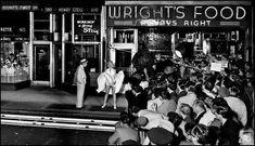 """El rodaje de La famosa escena en la que el vestido de Marilyn Monroe del metro en """"The Seven Year Itch"""". 1954"""