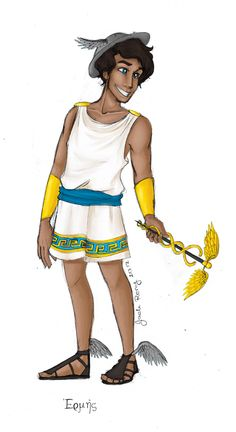 Greek God: Hermes by JadeAriel.deviantart.com on @deviantART