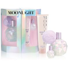 Ariana Grande Moonlight Gift Set - No Ari Perfume, Perfume Parfum, Perfume Good Girl, Perfume Hermes, Perfume Zara, Perfume Gift Sets, Parfum Spray, Perfume Bottles, Perfume Collection