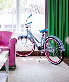 Lilly Pulitzer print bike