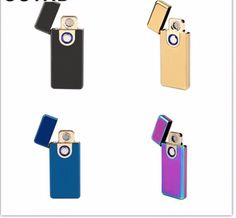 Windproof Rechargeable Lighter Fingerprint Sensing With Double Sided Coil New  #Unbranded #Electronic