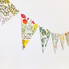 Botanical Bunting Rustic Wedding bunting Floral by PeonyandThistle Floral Banners, Floral Garland, Flower Garlands, Christmas Presents For Mum, Gifts For Mum, Lilac Flowers, Botanical Flowers, Wedding Bunting, Rustic Wedding