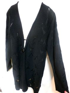Peter Nygard EUC Black Tunic Style Sweater Jacket Size XL #PeterNygrd #Tuniccardiganjacket