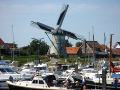 The beautiful harbour of Stavenisse, Zeeland, Netherlands in the summer of 2012.