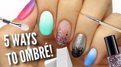 Here are 5 different ways that you can create DIY ombre / gradient nails at home! This nail style is super popular and thankfully it's really easy to achieve...