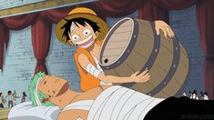 OMG  NEVER SAW IT BEFORE BUT  LOOK AT ZORO. Luffy's medicine for  Zoro  #OnePiece #Anime