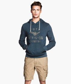 Printed Hooded Sweatshirt   Product Detail   H&M