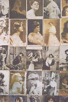 Kept Postcards Wallpaper - anthropologie.com