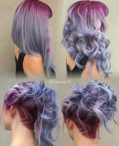 pink and lavender hair