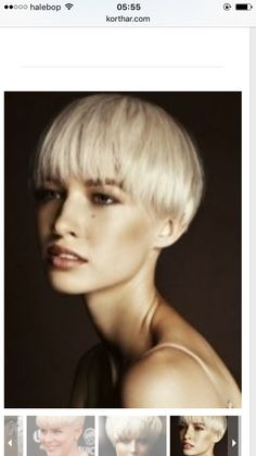 I love this bowl cut Short Layered Haircuts, Short Haircut, Pixie Haircut, Short Hairstyles For Women, Cool Hairstyles, Hairstyle Ideas, Short Grey Hair, Short Hair Styles, Bowl Haircut Women