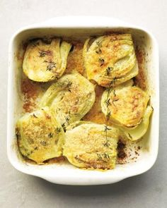 Fabulous Fennel Recipes // Baked Fennel with Parmesan and Thyme Recipe