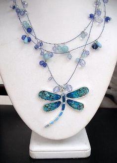 dragonfly necklace by jana