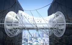 DSSH Bridgeis designed bysanzpont [arquitectura]for the Building to Building Pedestrian Bridge International Challenge. The proposal has aflexible tensile structure, by applying more tension to different points, a technological dynamic deformation can be achieved in response to the people crossing the bridge.The bridge has a tensile skin that incorporates Foldable Photovoltaic Solar Panels capturing energy from …