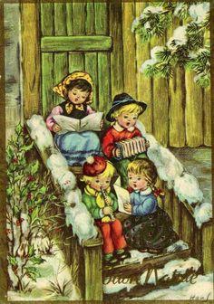 Винтажные рождественские открытки часть 2. Обсуждение на LiveInternet - Российский Сервис Онлайн-Дневников