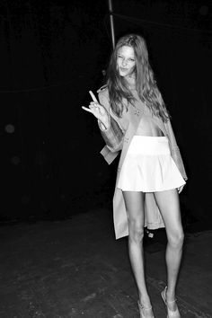 Backstage Candid: Alexander Wang SS 2014 Ready to Wear