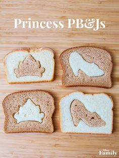 Heading back to school means many things: new backpacks, notebooks, and bringing lunch every day. Don't let the end of summer get you and your kids down — amp them up for the new school year with a Princess-themed peanut butter and jelly sandwich! Simply use fun cookie cutters and varying breads to create this magical twist on the classic sandwich.