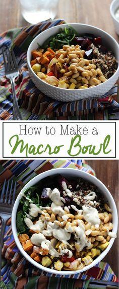 How to Make a Macro Bowl | Dietitian Debbie