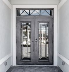 What do you usually have in mind when you think of wrought iron doors? Most people will probably associate them with fences or garden doors. Others ma. Iron Front Door, Double Front Doors, Glass Front Door, Glass Door, Door Entryway, Entrance Doors, Double Doors Exterior, Design Light, Wrought Iron Doors