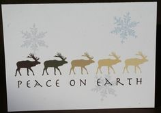 Peace on Earth moose holiday cards