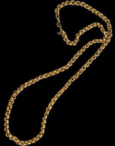 """Vintage Monet Chunky Gold Plated Belcher Chain Necklace - Approx. 36"""" #Monet #Chain"""