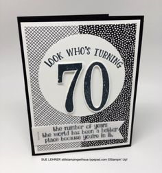 Handmade birthday card using Number of Years Stamp Set & Everyday Chic Designer Series Paper from Stampin' Up!