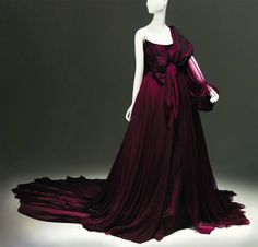 Vivienne Westwood -burgundy-taffeta-gown Storm in a teacup collection