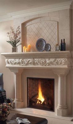 Good Totally Free limestone Fireplace Mantels Popular – Rebel Without Applause Stone Fireplace Designs, Stone Fireplace Mantel, Limestone Fireplace, Custom Fireplace, Home Fireplace, Stone Fireplaces, Decoration, House Design, Design Design