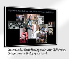 Custom Photo Montages not only look beautiful in your home or office, but they are a very intimate and unique piece of art telling your personal story. They are also a Very Special gift. Think of birthdays, graduations, engagements, anniversaries, Valentine's Day, wedding displays of childhood photos of the bride and groom, etc. These are unique and very personal gifts giving a lot of joy to the giftee. Purchase these Montages at my shop: abstractartunlimi...