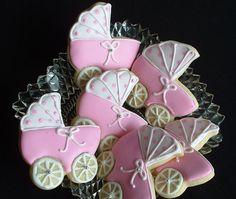 Baby Shower Cookies  1 dozen baby stroller by SweetArtSweets, $32.99