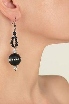 Onyx Drop Earrings, My Style, Collection, Jewelry, Fashion, Jewerly, Moda, Jewlery, Fashion Styles