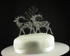 Acrylic Set of 3 1 tree and doe and deer cake by JohnSummersLtd, £19.99