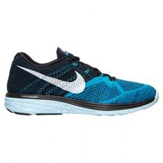 Nuevo Zapatos Nike Flyknit Lunar 3 Hombre 46220-781 Negro/Blanco/Azul Laguna Zapatillas running En Venta