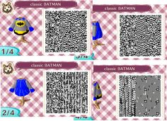 My first attempt at making one of those designs in the Animal Crossing New Leaf game. Classic Batman c. Animal Crossing New Leaf QR classic Batman Pattern Images, Pattern Design, Animals Images, Animal Pictures, Brock Pokemon, Film Manga, Georgia, Ac New Leaf, Happy Home Designer