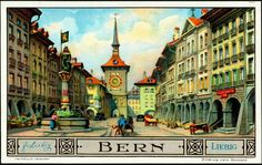 Liebig Beef Extract, German issue, 1935. European Cities With a Long History - Bern, Switzerland