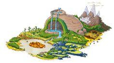 Larsson Portfolio - Angry Birds island - Rovio Angry Birds, Island, Landscape, Christmas Ornaments, Holiday Decor, Fictional Characters, Art, Art Background, Scenery