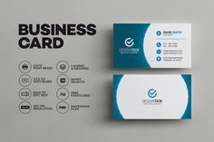 Corporate folded business card vol 2 by sara design on modern business card template templates this simple and clean business card template is suitable for any kind of business or personal use by made by arslan accmission Image collections