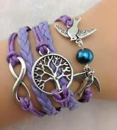 Couple bird bracelet, wishing tree – a tree of life bracelet