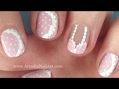Lacy Pink Bra Nail Art Tutorial