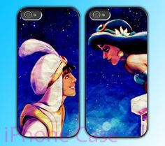Aladdin and Princess Jasmine design Couple love case for iPhone 4 case and iPhone 5 case.