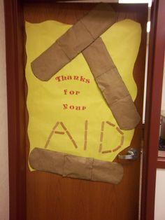 teacher appreciation ideas | Thanks For Your Aid School Nurse Appreciation Decoration