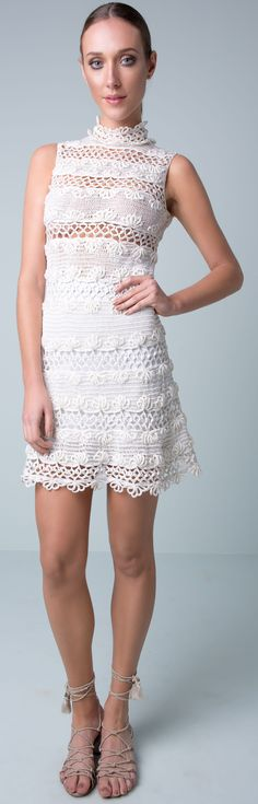 Giovana Dias - crochet mini dress