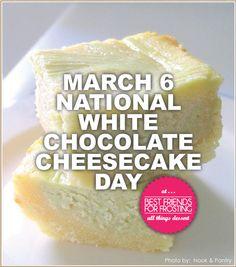 National White Chocolate Cheesecake Day Recipes