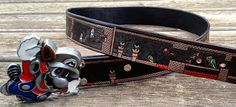 Custom made Super Mario final level leather belt