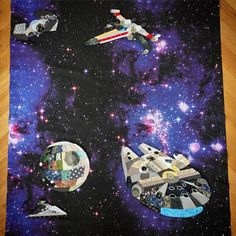 Scrappy Star Wars quilt - only the Death Star has a pattern posted