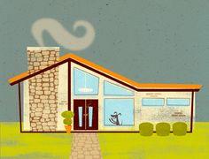 #MichaelRobertson #retro #house #home #digitalillustration #vector #illustration #lindgrensmith
